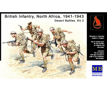 Master Box British Infantry in action, Northern Africa, WW II era