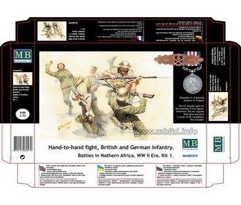 Master Box British and German Infantry. Battles in Northern Africa. Kit 1