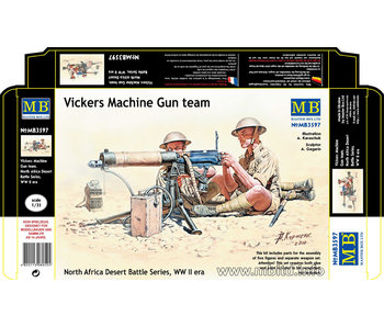 Master Box Vickers Machine Gun team, North Africa Desert Battle Series WWII era