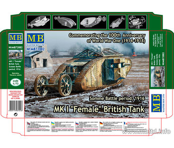 Master Box MK I Female British Tank, Somme Battle period, 1916