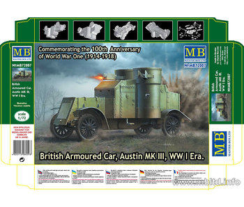 Master Box British Armoured Car, Austin, MK III, WW I Era