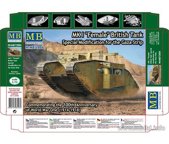 Master Box MK I Female British Tank, Special Modification for the Gaza Strip