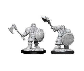 D&D Unpainted Minis Wv11 Male Dwarf Fighter