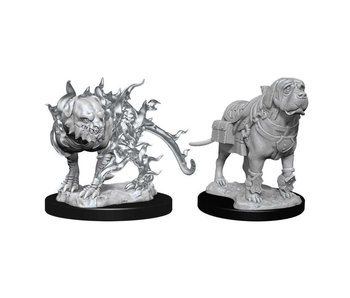 D&D Unpainted Minis Wv11 Mastif And Shadow Mastif