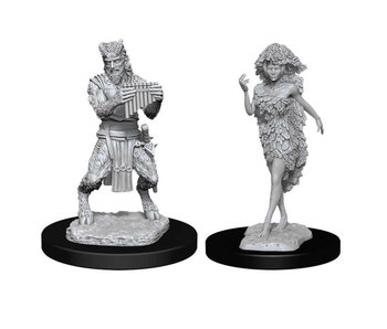 D&D Unpainted Minis Wv11 Satyr And Dryad