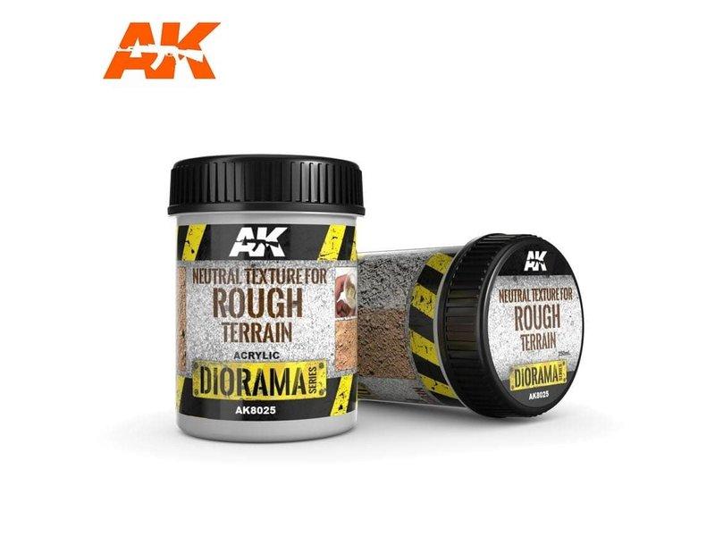 AK Interactive AK Interactive Neutral Texture For Rough Terrains - 250ml - Base Product (Acrylic)