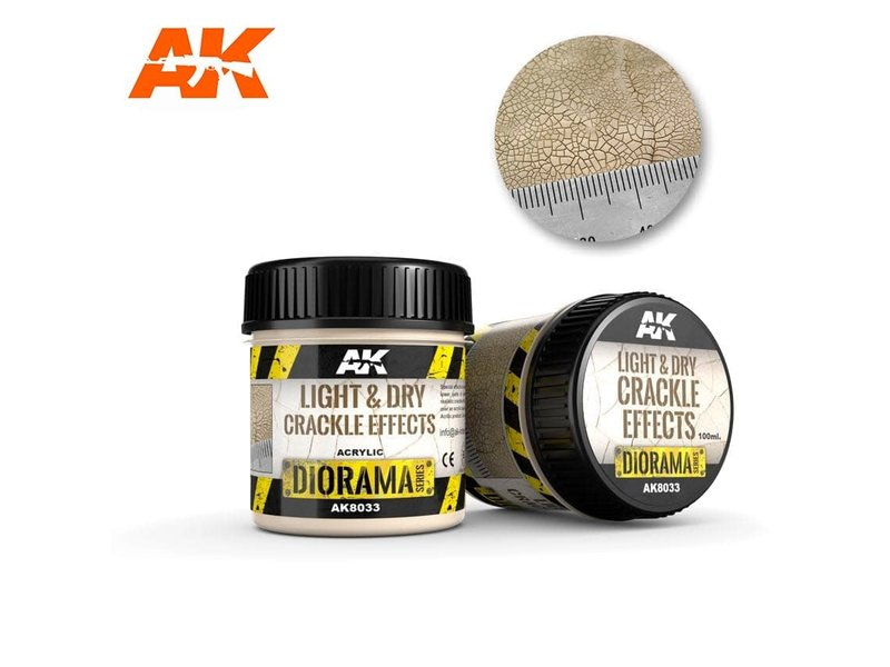 AK Interactive AK Interactive Light & Dry Crackle Effects - 100ml (Acrylic)