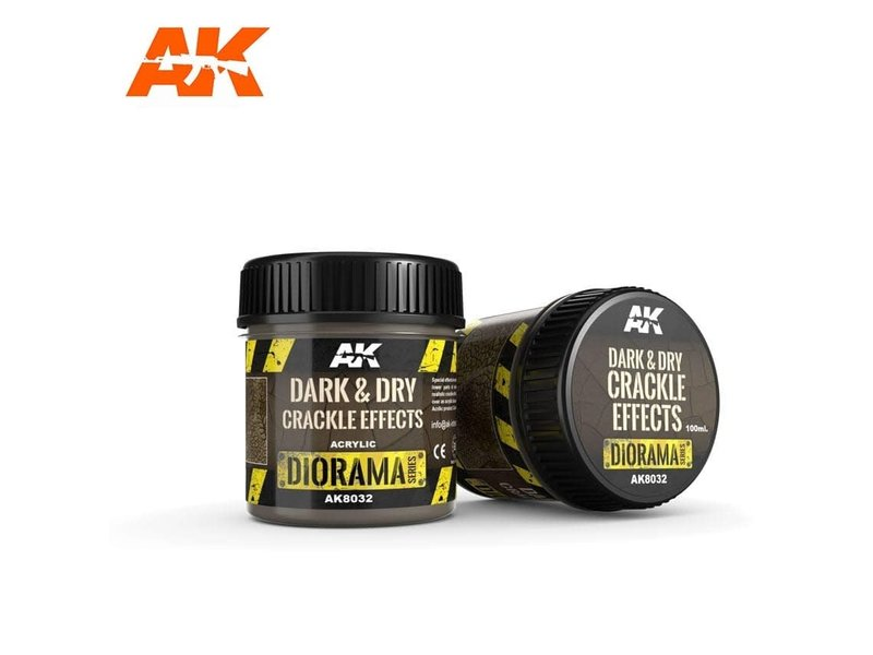 AK Interactive AK Interactive Dark & Dry Crackle Effects - 100ml (Acrylic)