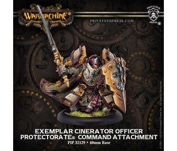 Protectorate of Menoth Exemplar Cinerators Officer Command PIP 32129