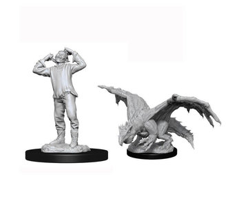 D&D Unpainted Minis Wv11 Green Dragon Wyrmling