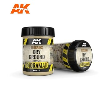 AK Interactive Terrains Dry Ground - 250ml (Acrylic)