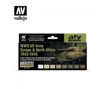 WWII US Army 1942-45 Colour Set 8x17ml