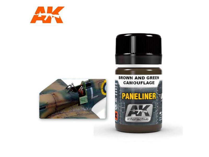 AK Interactive AK Interactive Paneliner For Brown And Green Camouflage 35ml