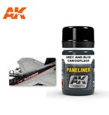 AK Interactive AK Interactive Paneliner For Grey And Blue Camouflage 35ml