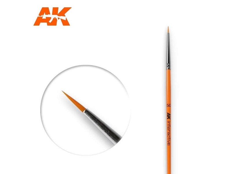 AK Interactive AK Interactive Round Brush 5/0 Synthetic