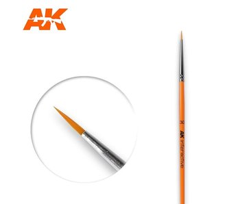 AK Interactive Round Brush 3/0 Synthetic