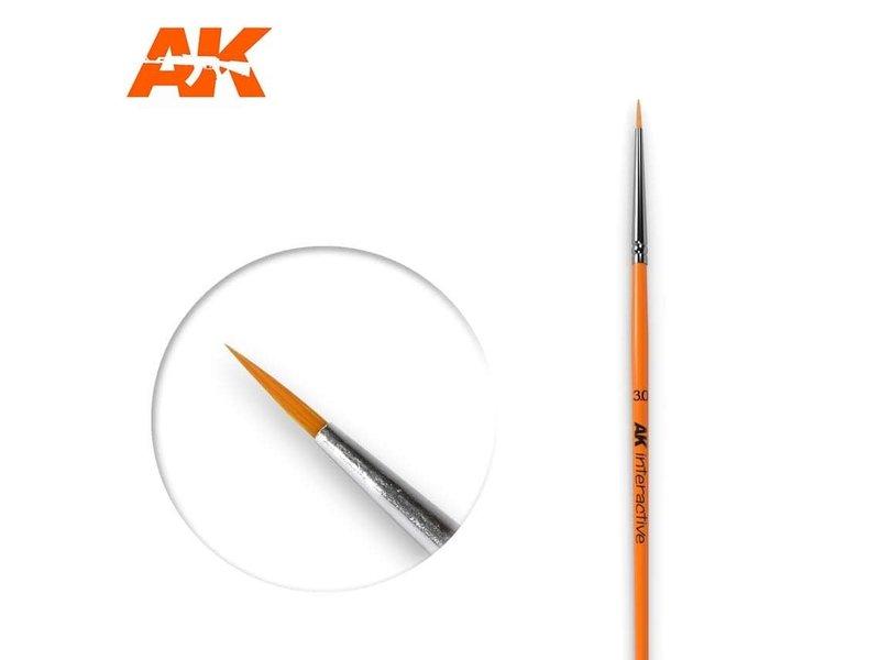 AK Interactive AK Interactive Round Brush 3/0 Synthetic