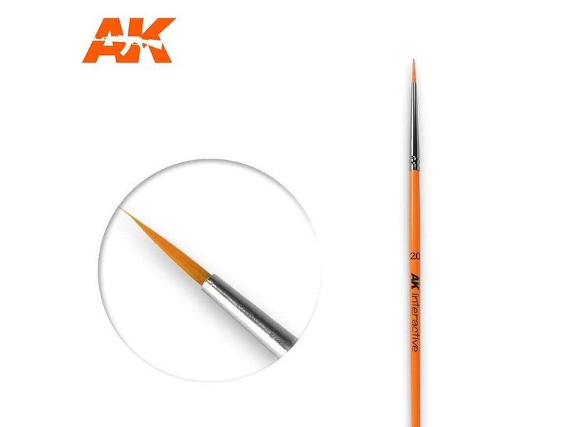 AK Interactive AK Interactive Round Brush 2/0 Synthetic