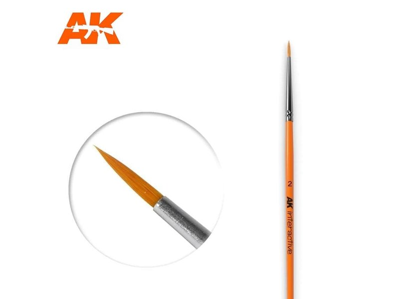 AK Interactive AK Interactive Round Brush 2 Synthetic