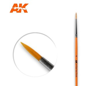 AK Interactive Round Brush 4 Synthetic