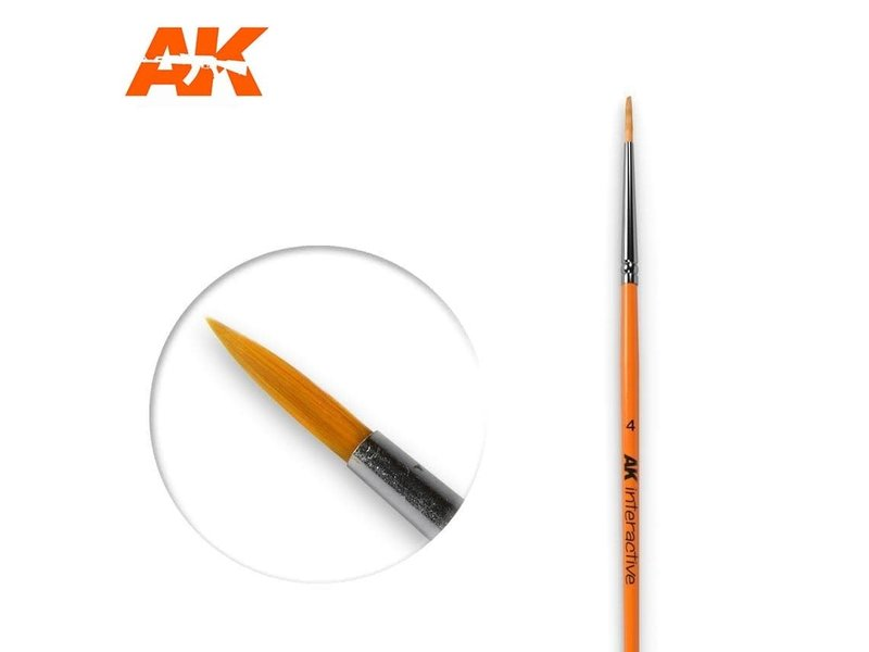 AK Interactive AK Interactive Round Brush 4 Synthetic