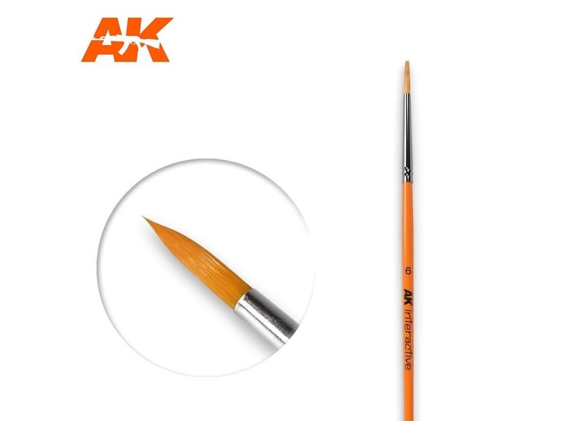 AK Interactive AK Interactive Round Brush 6 Synthetic