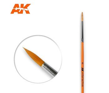AK Interactive Round Brush 8 Synthetic