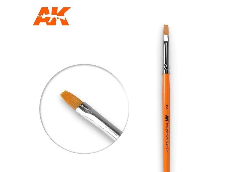AK Interactive AK Interactive Flat Brush 2 Synthetic