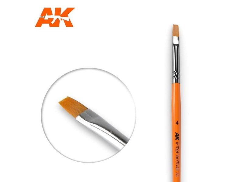 AK Interactive AK Interactive Flat Brush 4 Synthetic