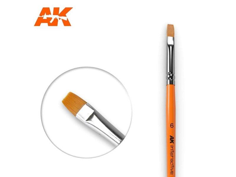 AK Interactive AK Interactive Flat Brush 6 Synthetic