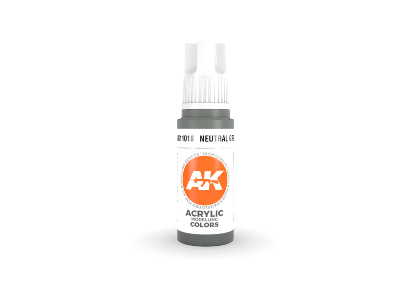 AK Interactive AK Interactive 3rd Gen Acrylic Neutral Grey (17ml)