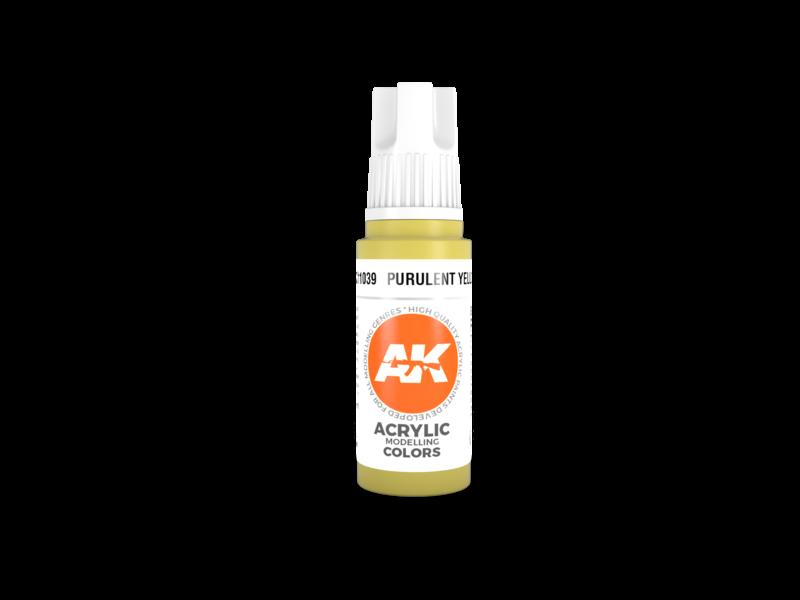 AK Interactive AK Interactive 3rd Gen Acrylic Purulent Yellow (17ml)
