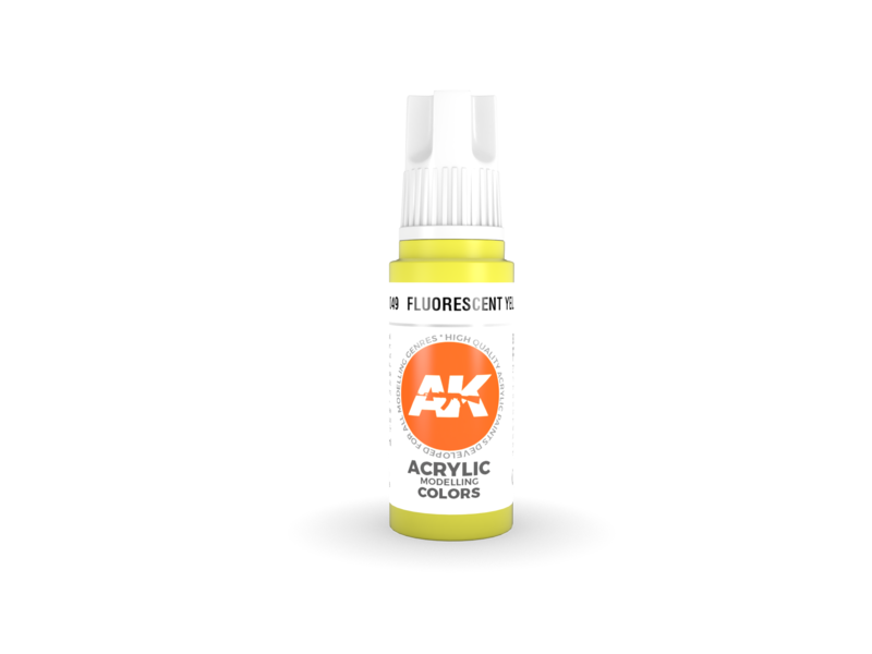AK Interactive AK Interactive 3rd Gen Acrylic Fluorescent Yellow (17ml)