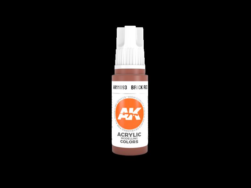 AK Interactive AK Interactive 3rd Gen Acrylic Brick Red (17ml)