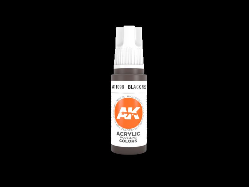 AK Interactive AK Interactive 3rd Gen Acrylic Black Red (17ml)