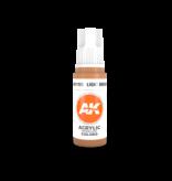AK Interactive AK Interactive 3rd Gen Acrylic Light Brown (17ml)