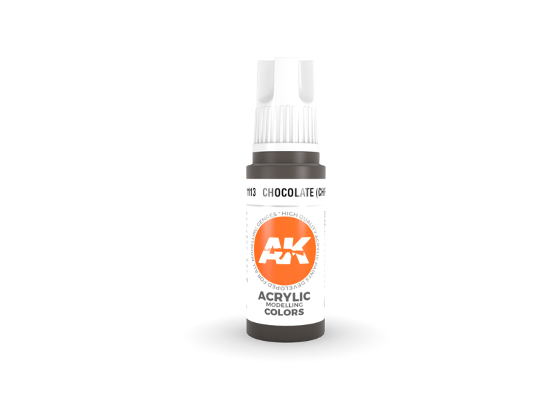 AK Interactive AK Interactive 3rd Gen Acrylic Chocolate (Chipping) (17ml)