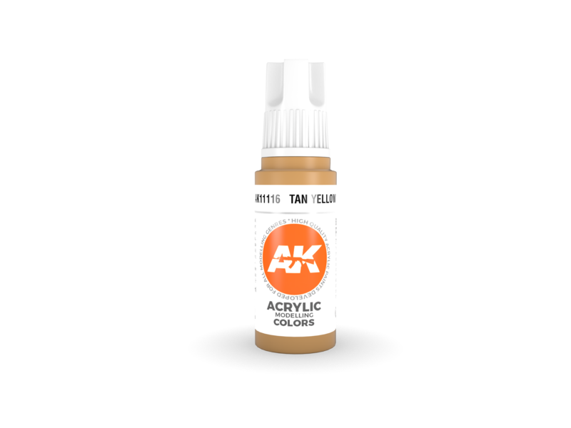 AK Interactive AK Interactive 3rd Gen Acrylic Tan Yellow (17ml)