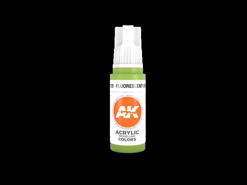 AK Interactive AK Interactive 3rd Gen Acrylic Fluorescent Green (17ml)
