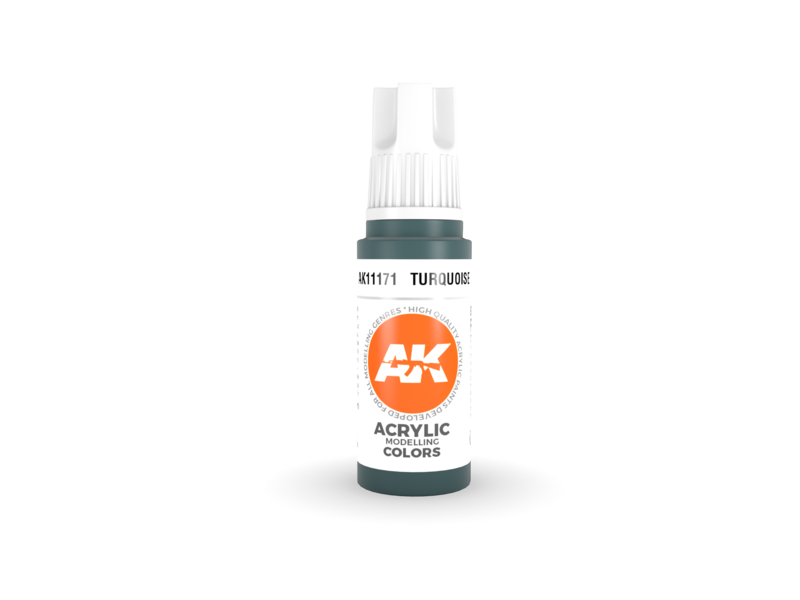AK Interactive AK Interactive 3rd Gen Acrylic Turquoise (17ml)