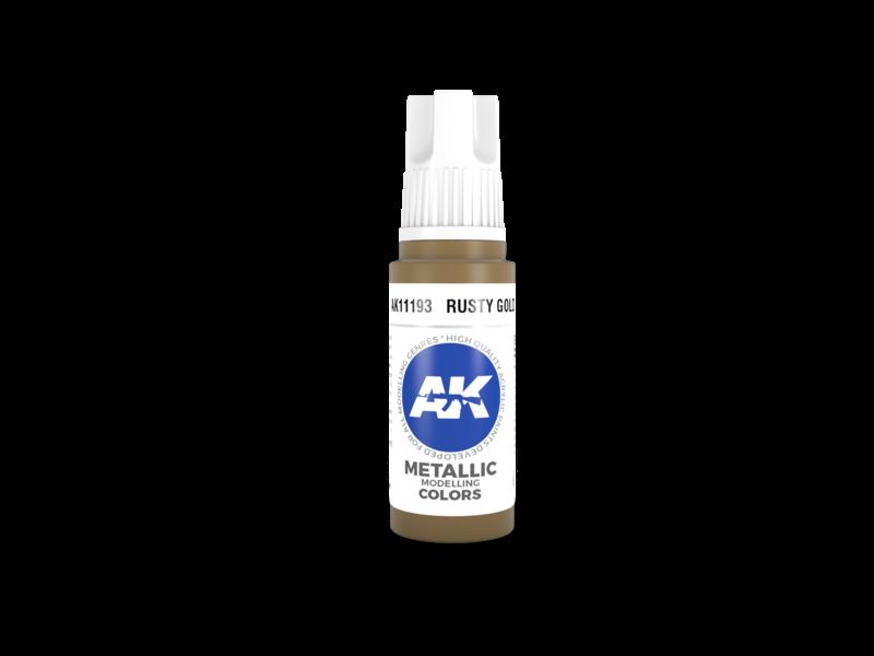 AK Interactive AK Interactive 3rd Gen Acrylic Rusty Gold (17ml)