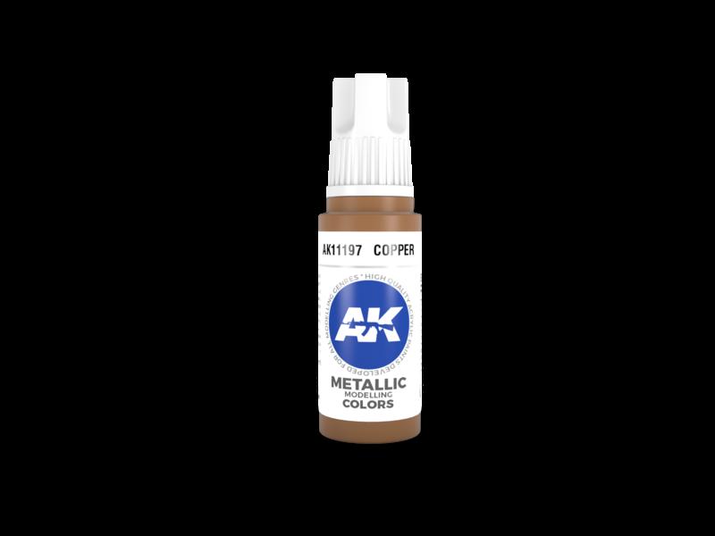 AK Interactive AK Interactive 3rd Gen Acrylic Copper (17ml)