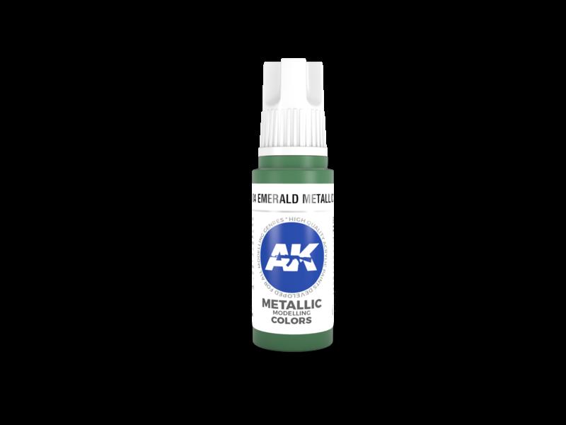 AK Interactive AK Interactive 3rd Gen Acrylic Emerald Metallic Green (17ml)