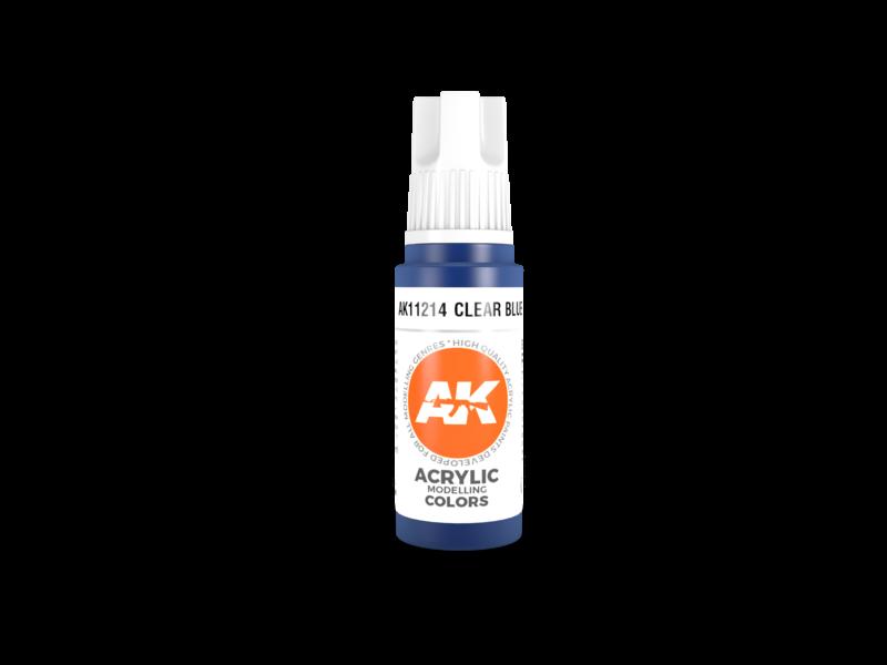 AK Interactive AK Interactive 3rd Gen Acrylic Clear Blue (17ml)