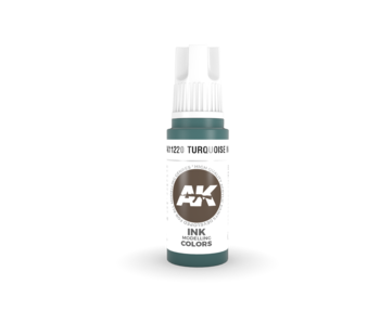 AK Interactive 3rd Gen Acrylic Turquoise INK (17ml)