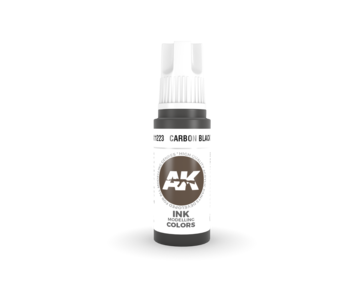AK Interactive 3rd Gen Acrylic Carbon Black INK (17ml)