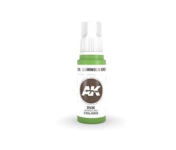 AK Interactive 3rd Gen Acrylic Luminous Green INK (17ml)