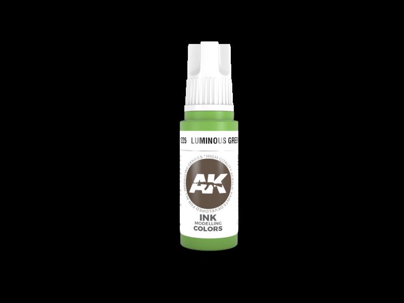 AK Interactive AK Interactive 3rd Gen Acrylic Luminous Green INK (17ml)