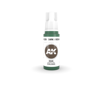 AK Interactive 3rd Gen Acrylic Dark Green INK (17ml)
