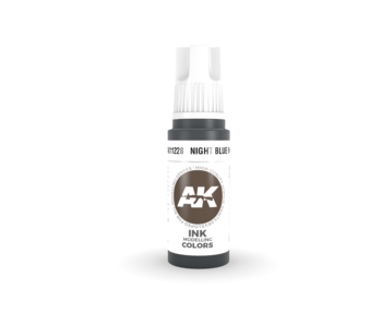 AK Interactive 3rd Gen Acrylic Night Blue INK (17ml)